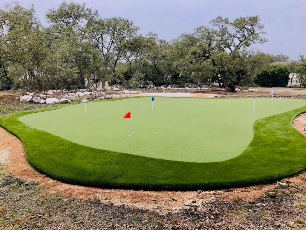 putting green built on professional turf