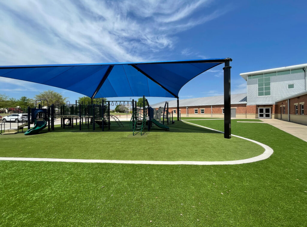 playground built on artificial turf in seattle