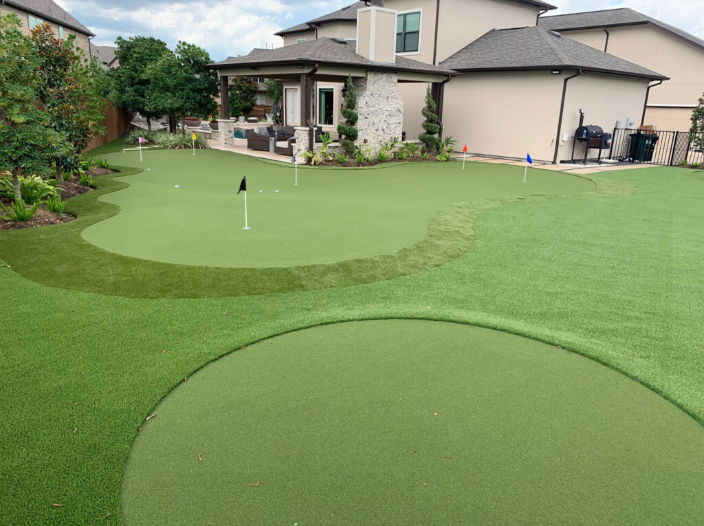 putting green built on artificial turf
