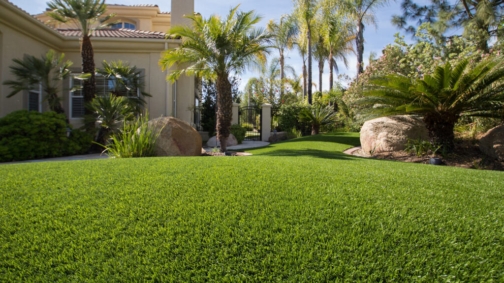 artificial residential lawn