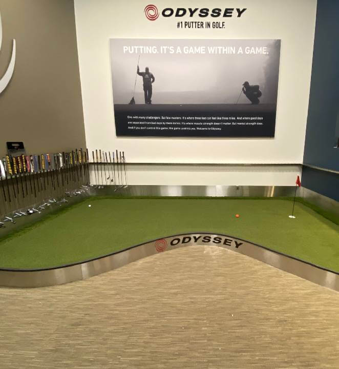 indoor mini golf installation by SYNLawn