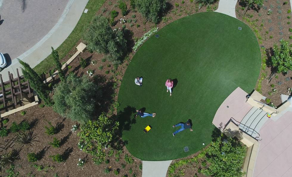 Aerial View of the sheraton carlsbad at legoland project by SYNLawn