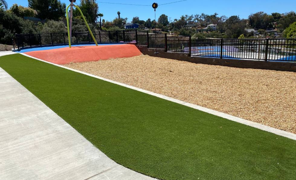 Olympus park artificial grass project by SYNlawn